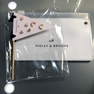 """C"" Violet and Brooks Personalized Earrings Set"